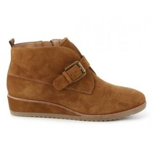 Franco Sarto Brooke suede wedge booties 6.5